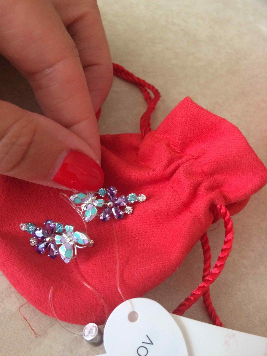 Очень красивые серьги !буду носить все лето))обслуживание в магазине на 5+