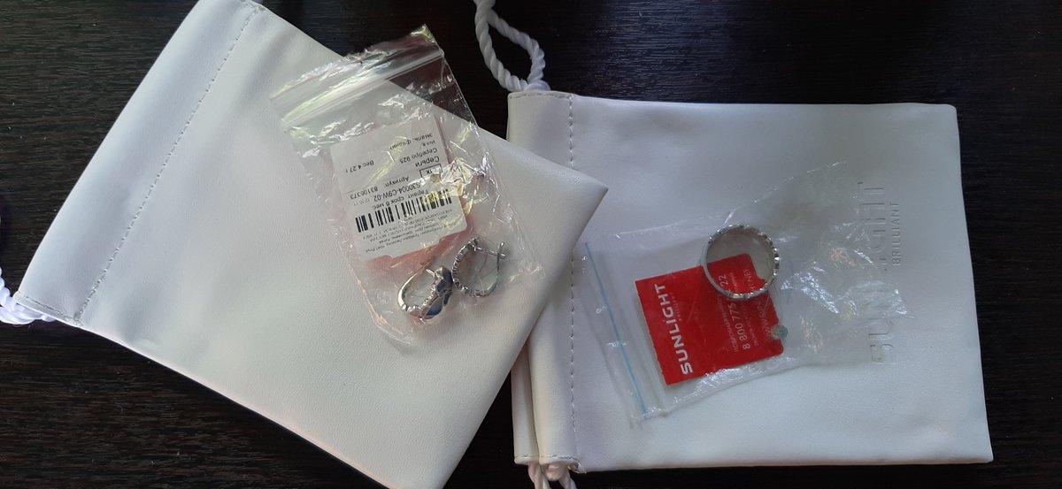 Серьги заказывала с колечком,комплектом.