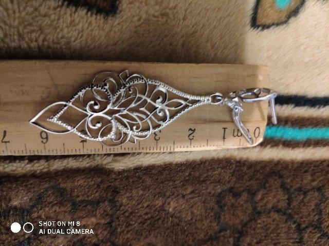 Ажурные серебряные летние серьги