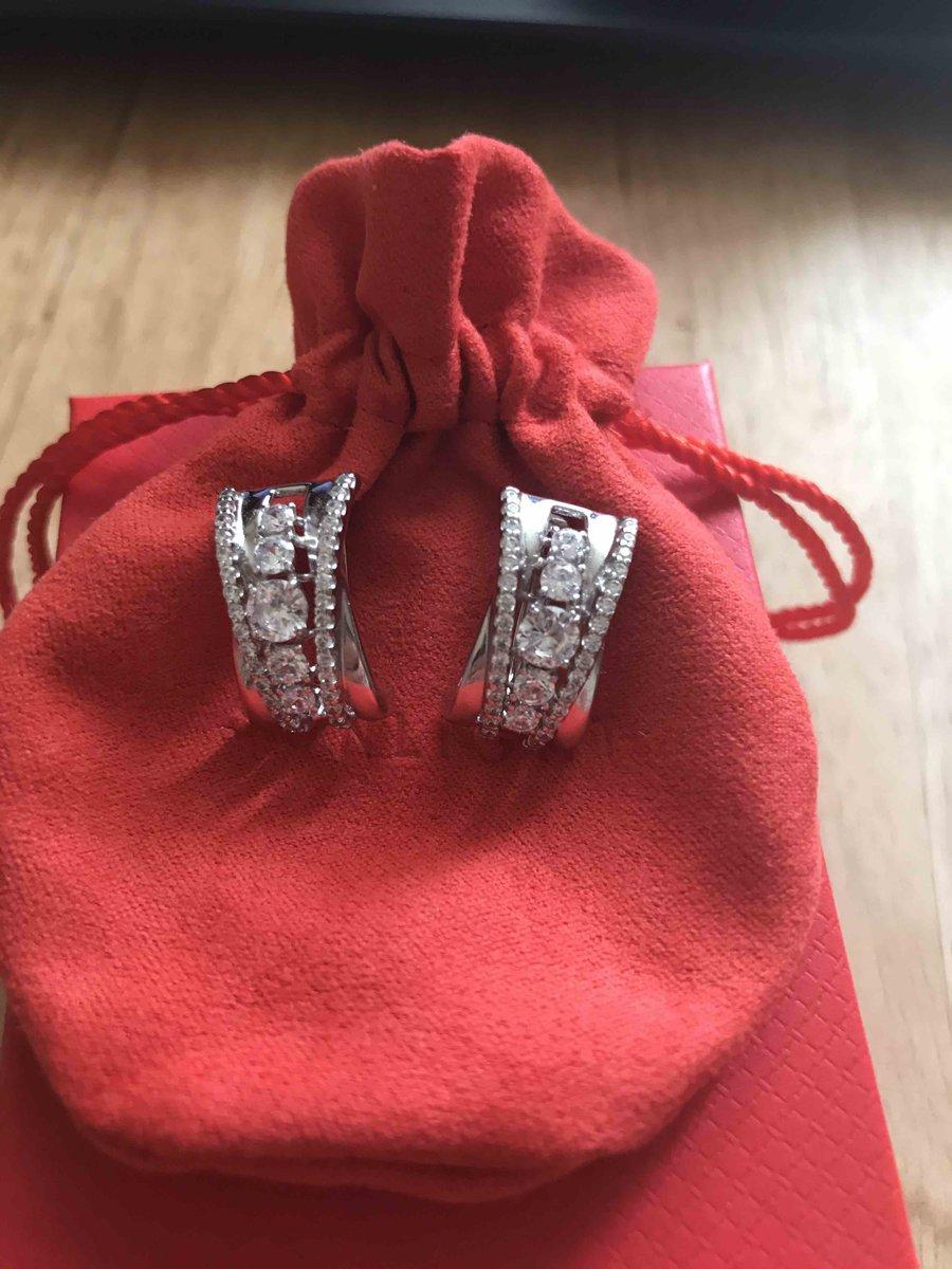 Серебряные серьги с фионитами