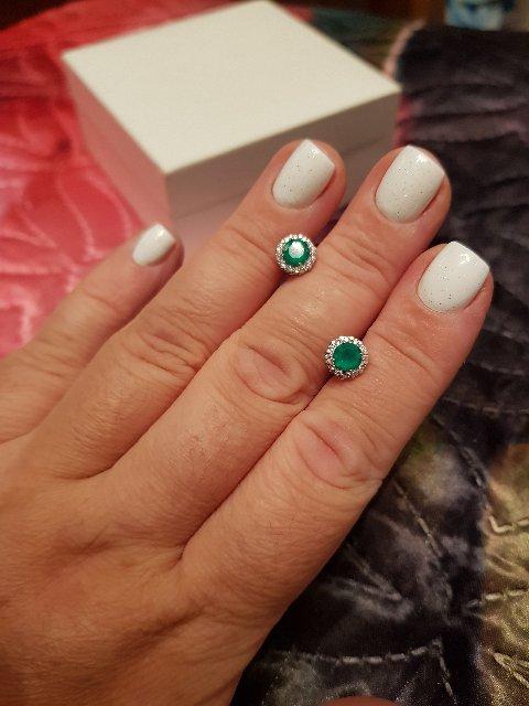 Серебряные серьги с очаровательным камнем агат.