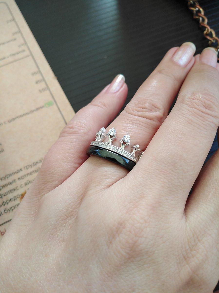 Симпатичное двойное кольцо с короной очень понравилось