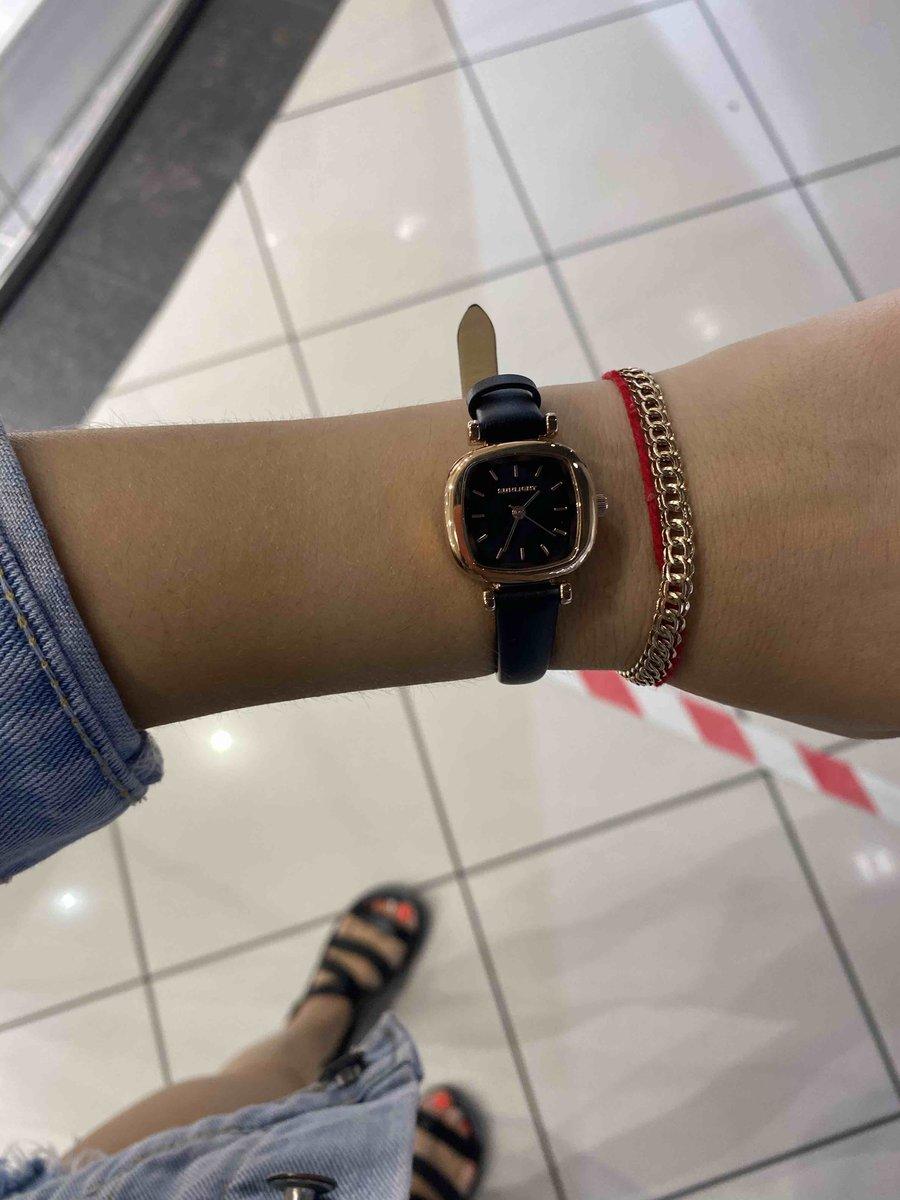 Черные женские часы