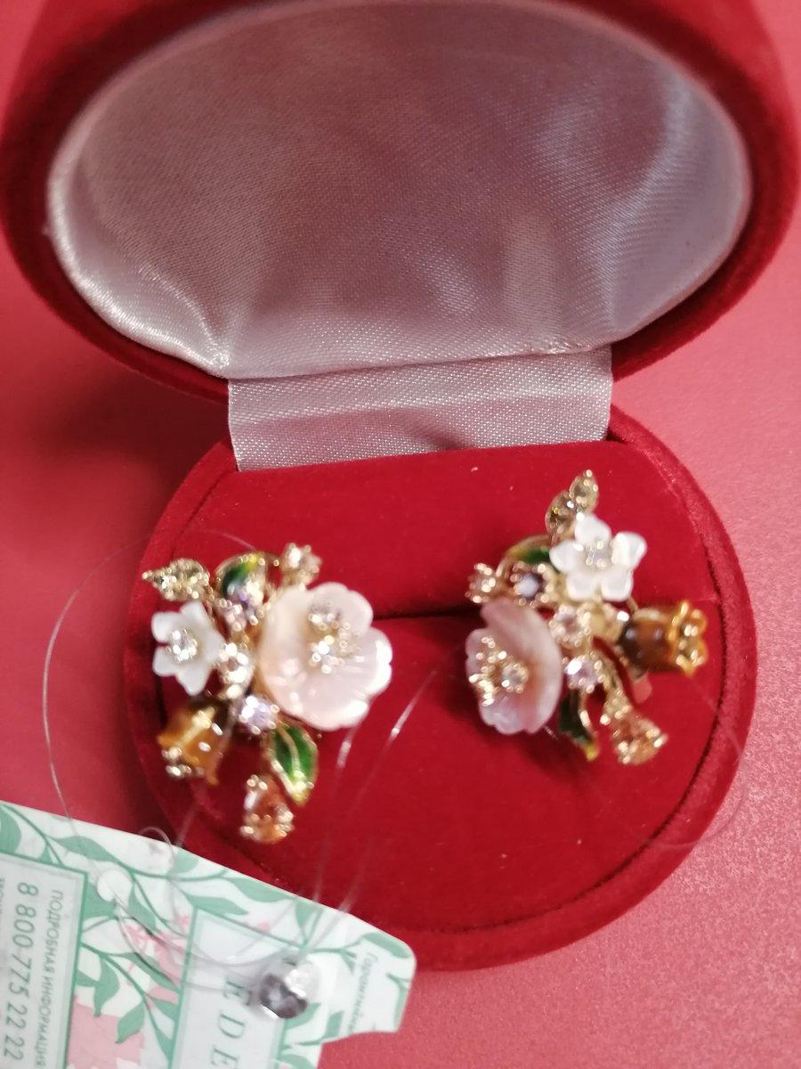 Серебряные серьги с цветочками