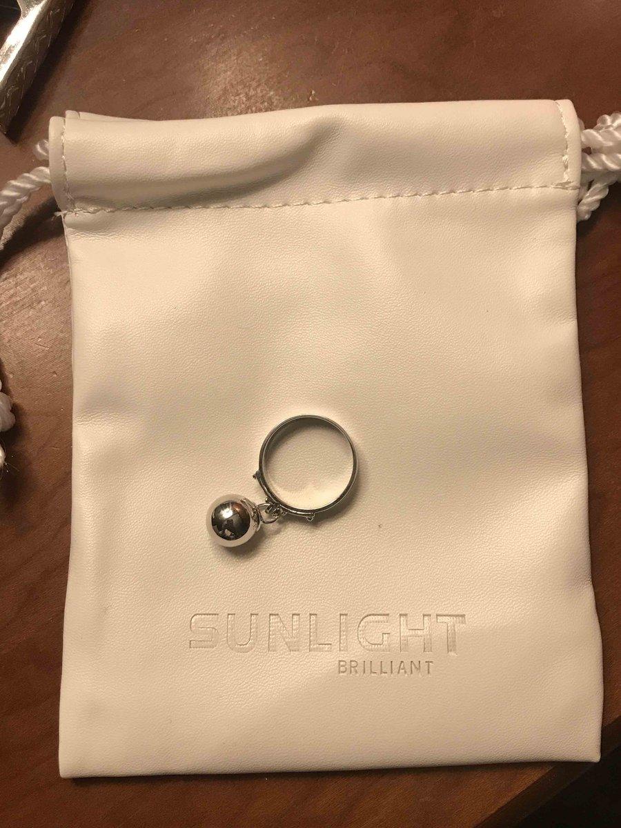 Простое кольцо с подвеской виде шарика