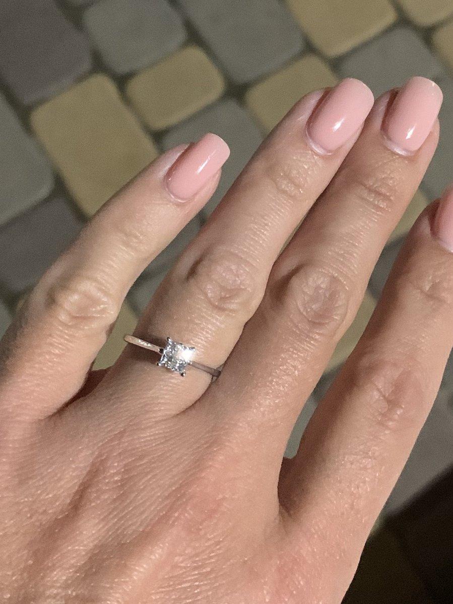 Кольцо с 4-мя бриллиантами