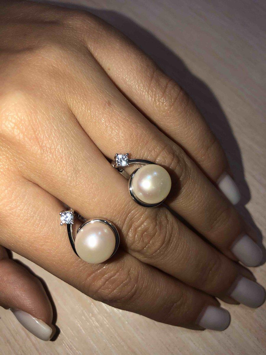 Серебрянные серьги с фианитами и жемчугом