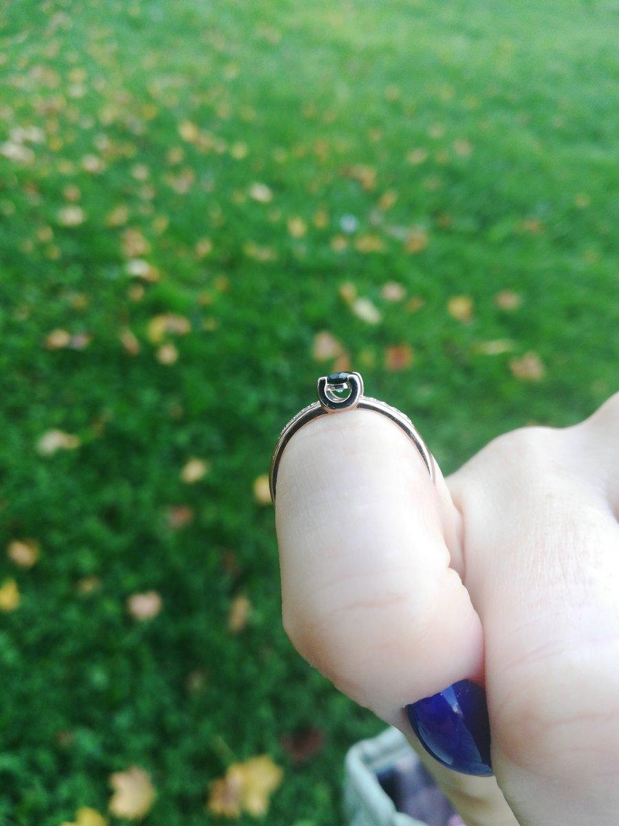 Кольцо 💍 с сапфиром и брильянтами