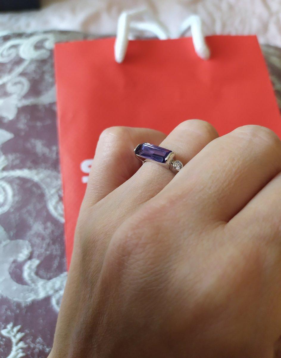 Стильное кольцо с аметистом!