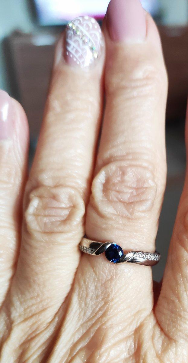 Кльцо с наносапфиром.