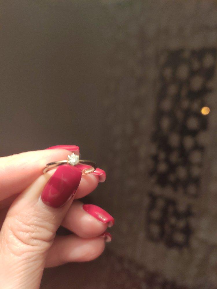 Колечко с бриллиантом!
