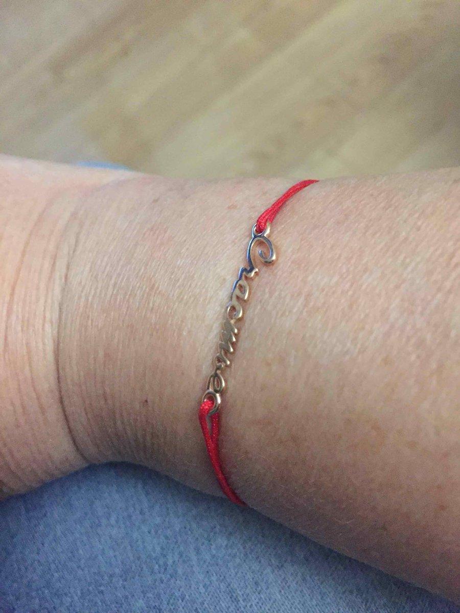 Золотой браслет с нейлоновыми нитями
