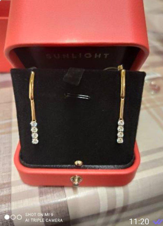 Сережки женские золотые