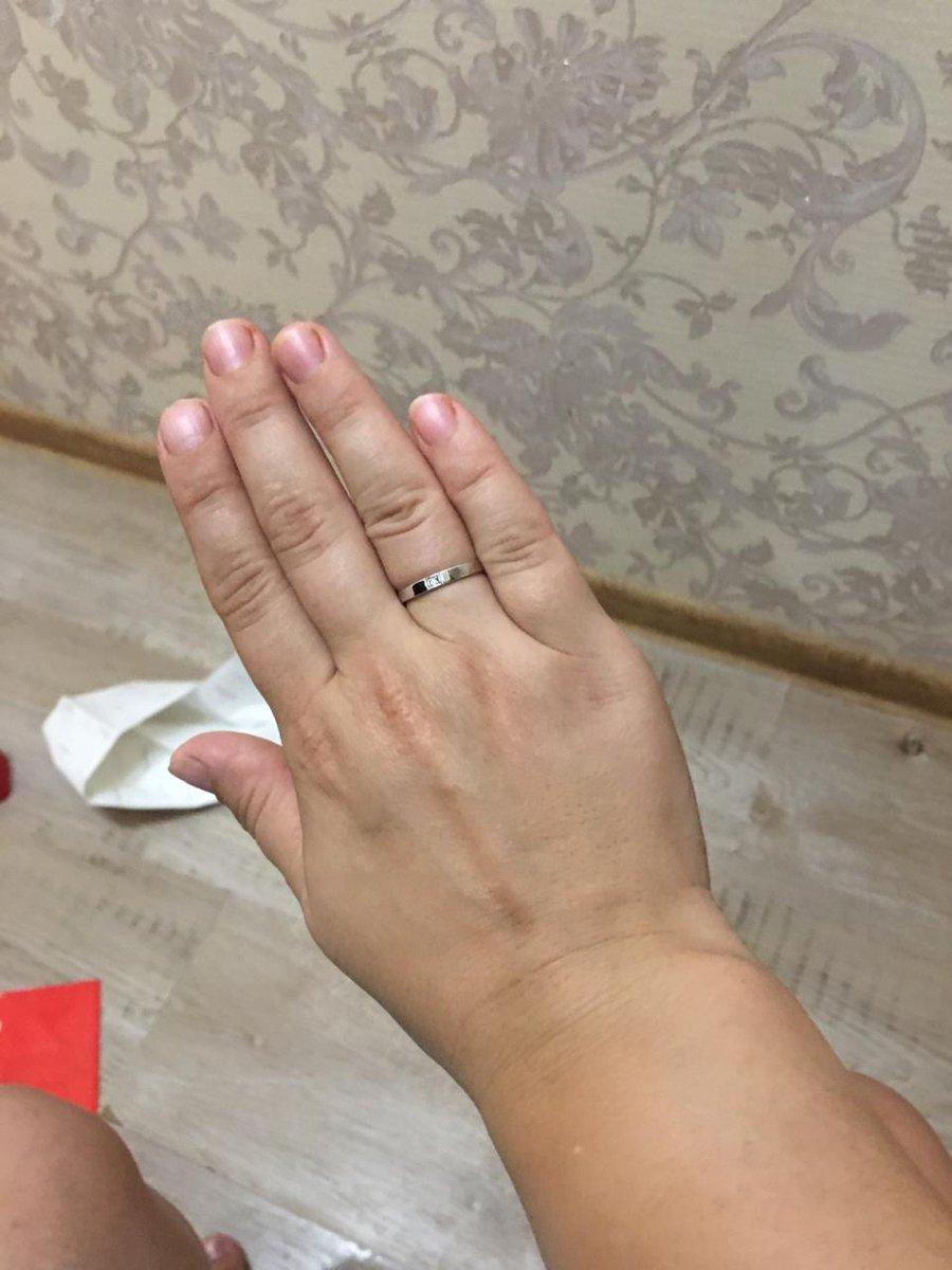 Кольцо с бриллантом