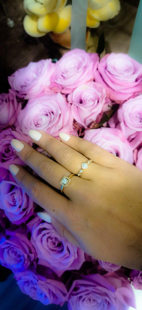 Золотое кольцо с качественными бриллиантами