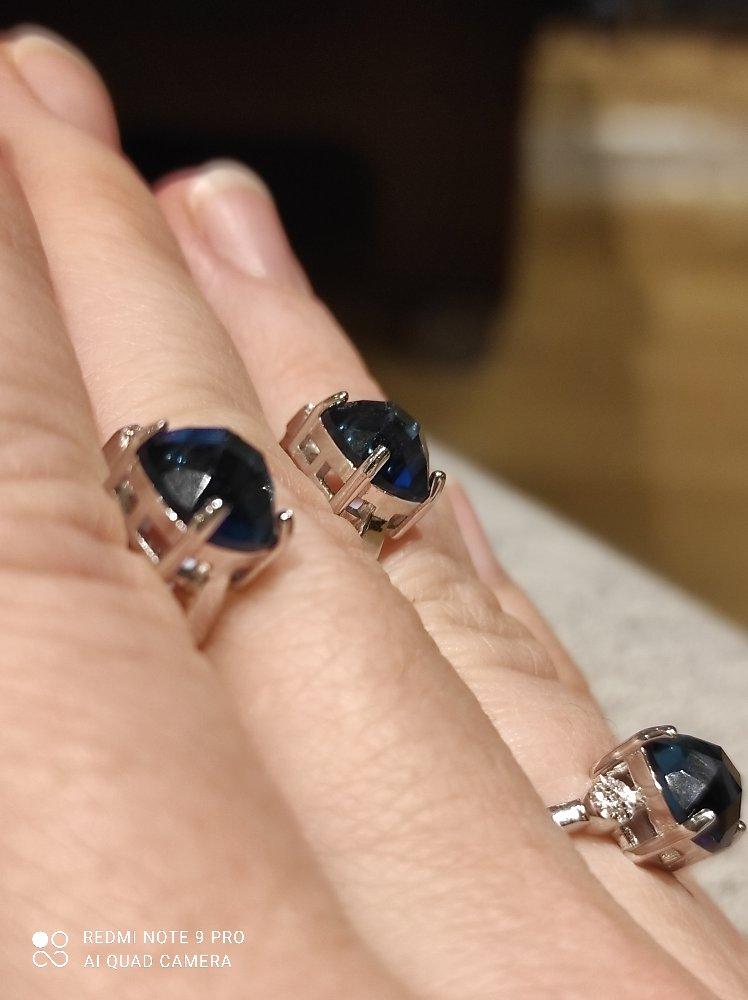 Серебряные серьги с алпанитом и фианитами