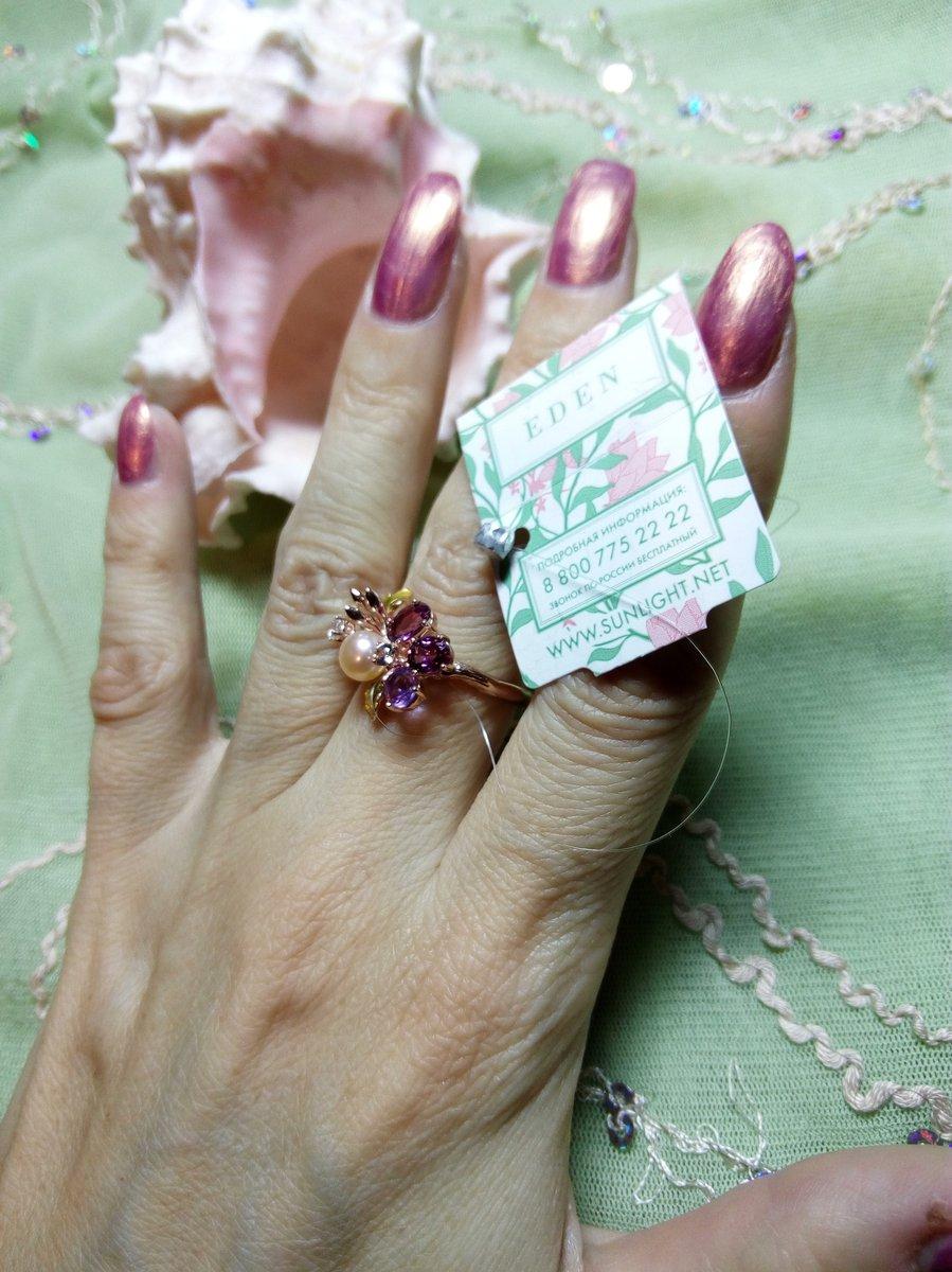 Серебряное кольцо-цветок.