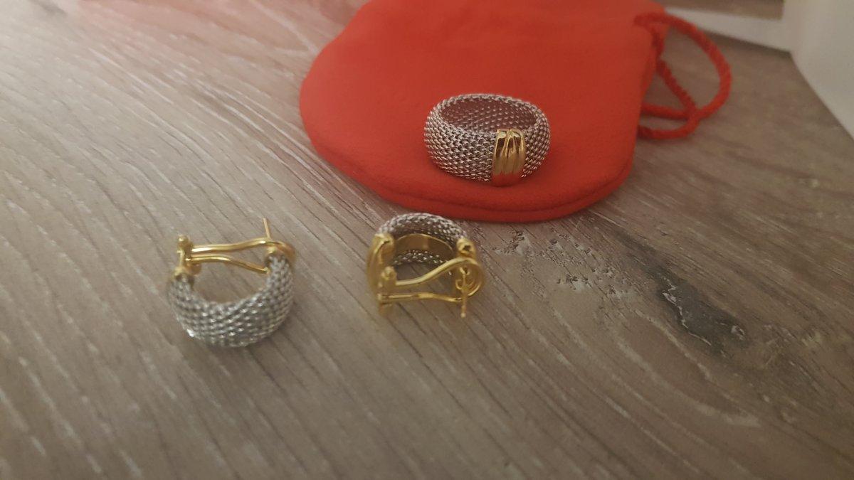Комплект серьги, кольцо