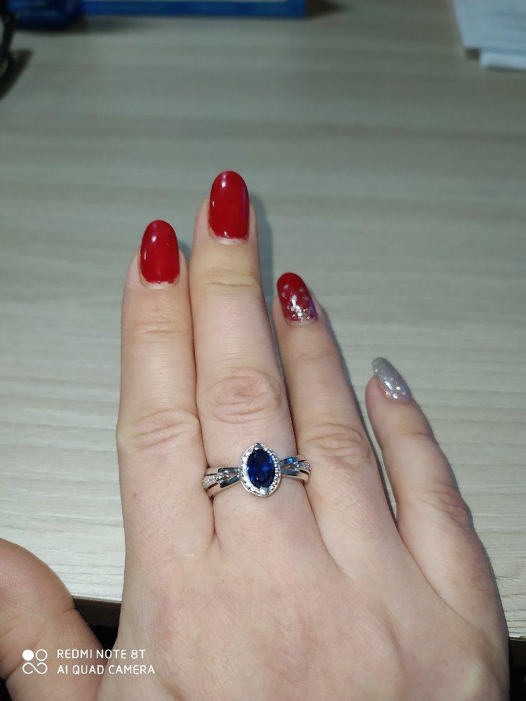 Серебряное кольцо с сарфирами