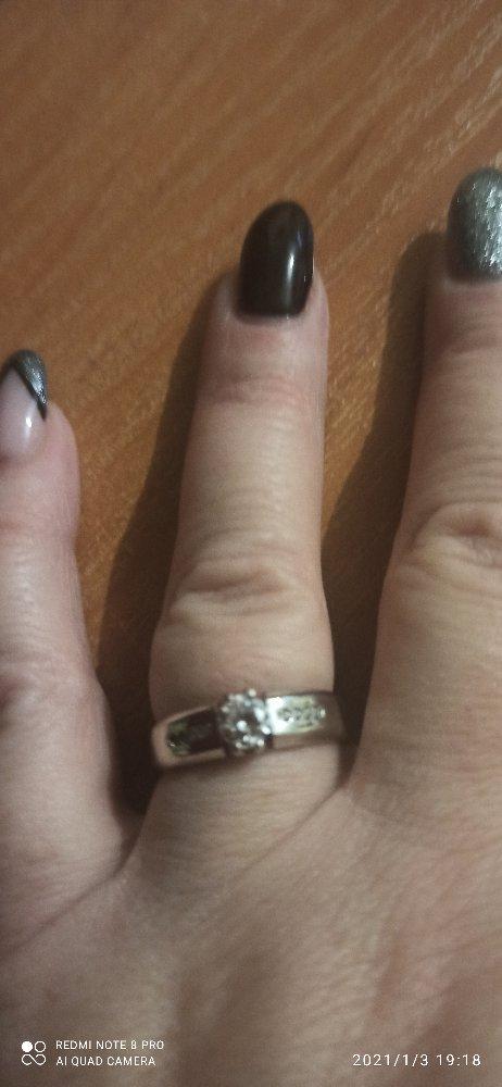 Кольцо женское размер 19