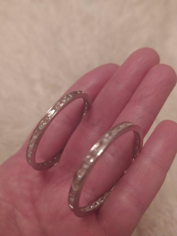 Серебряные серьги с фанатами