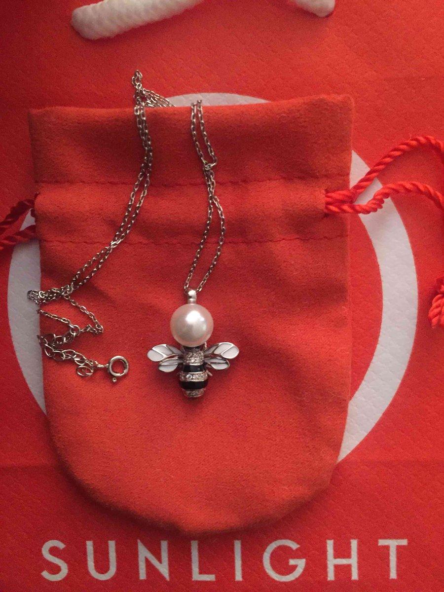 Серебрянная подвеска  «пчёлка» с фианитами  на цепочке