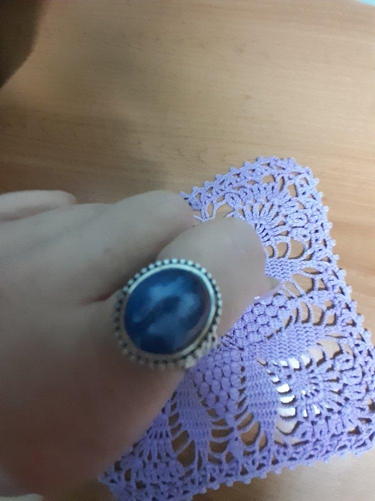 Кольцо с кианитом