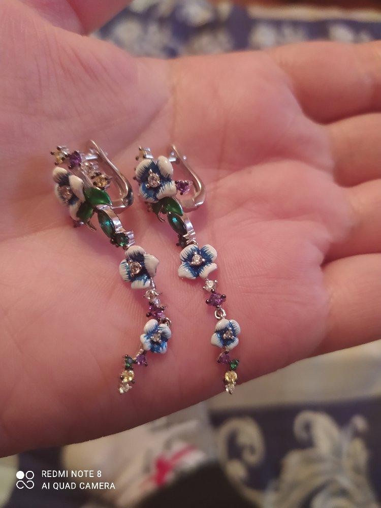 Серёжки серебряные.