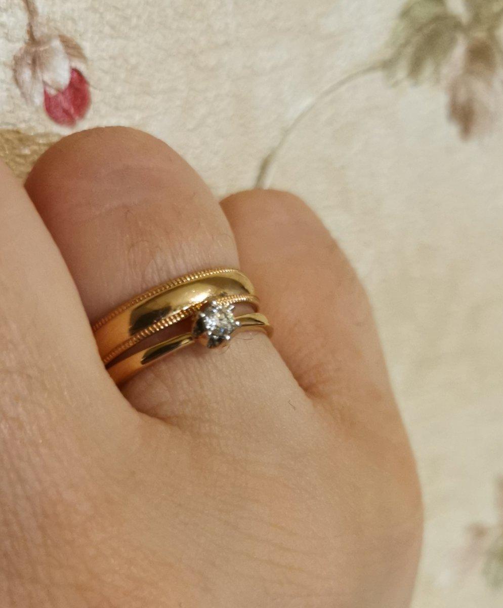 Нашла своё кольцо к обручальному.