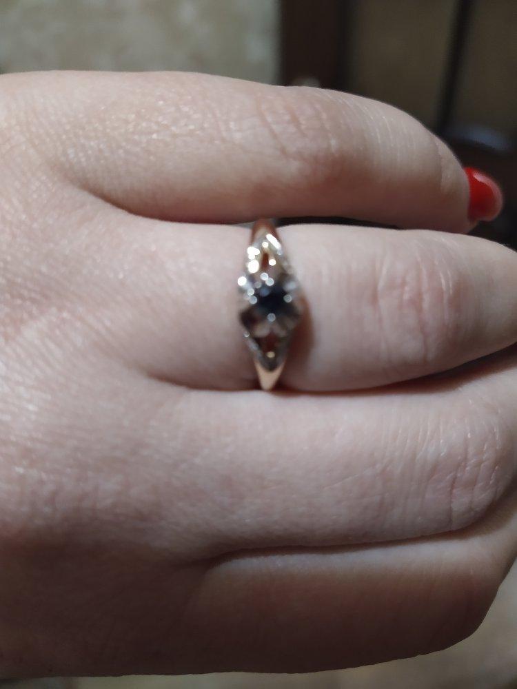Колечко с сапфиром и бриллиантами