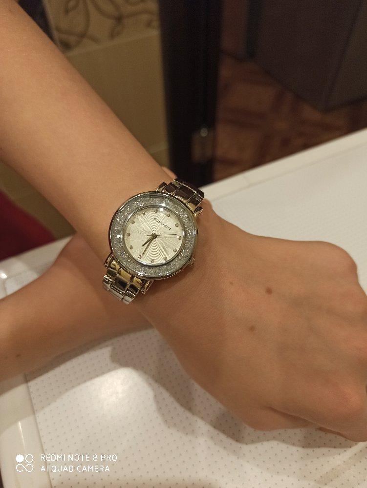 Часы со стразами, цвет металикк, купленные в комсомолтске-на-амуре