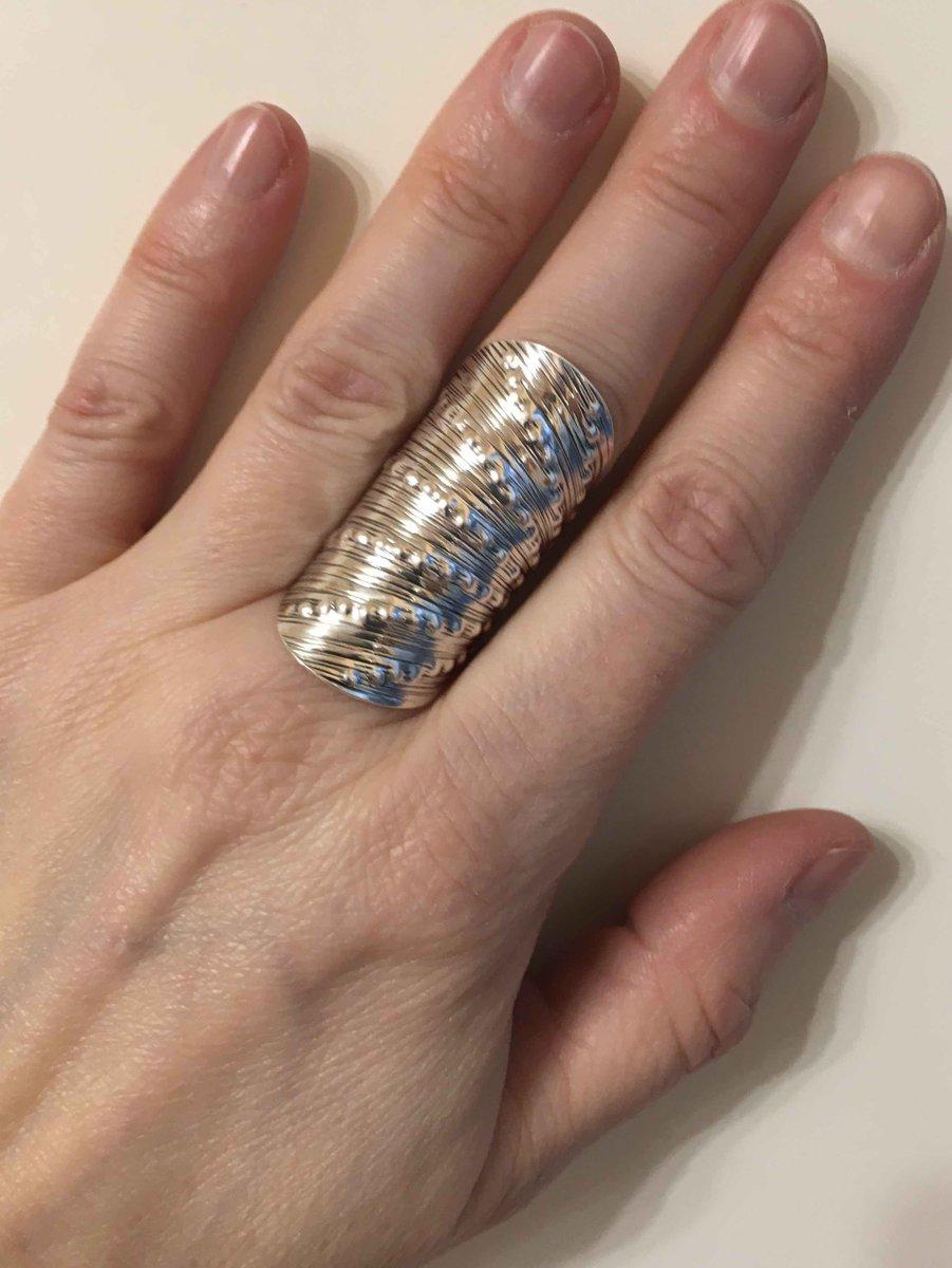 Незамкнутое кольцо в этническом стиле