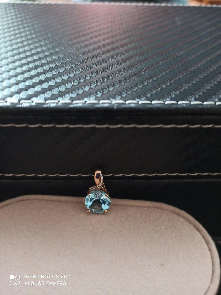 Подвеска с топазом и бриллиантами