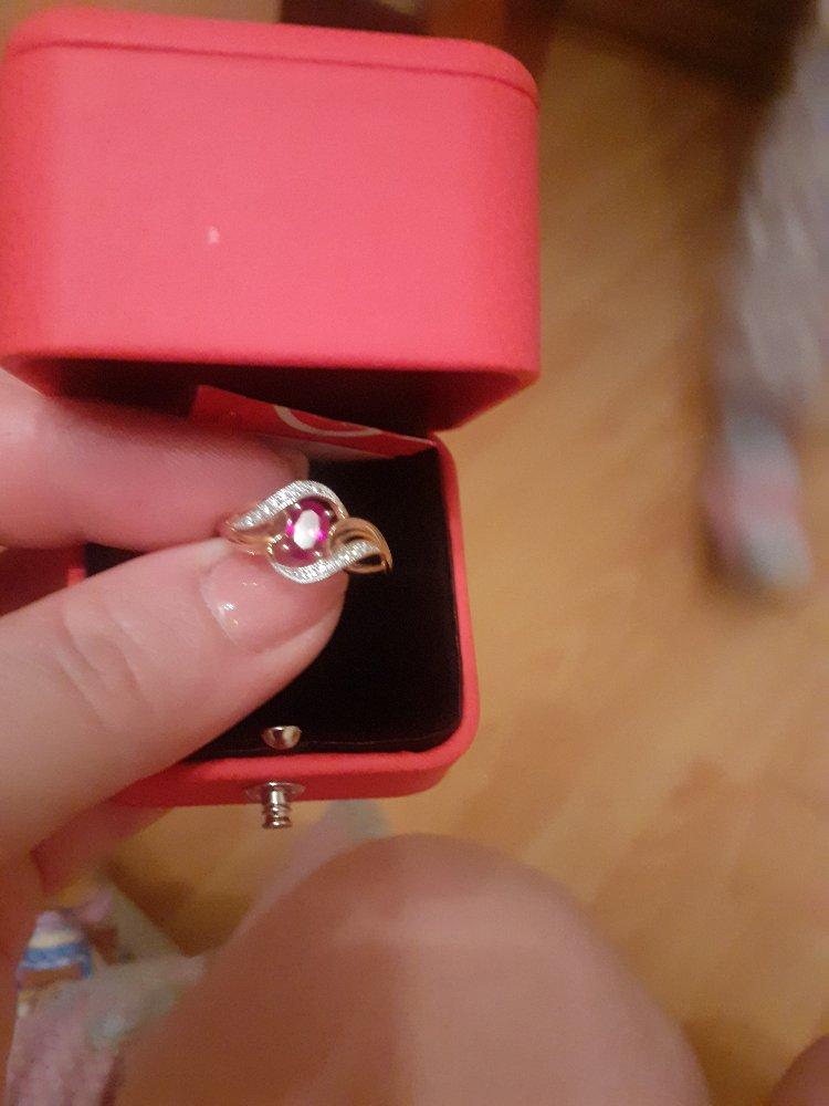 Колечко с рубином и бриллиантами