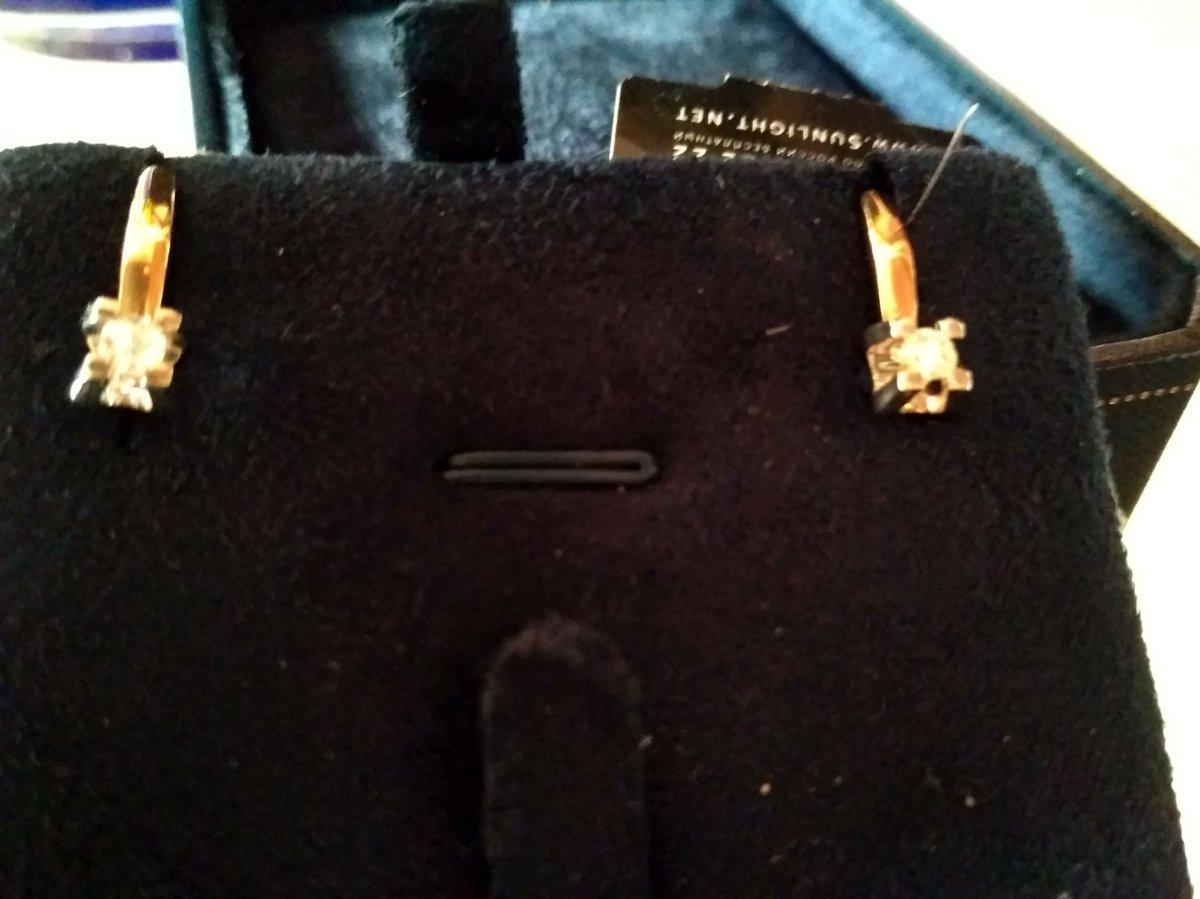 Бриллианты якутии, золотые серьги.