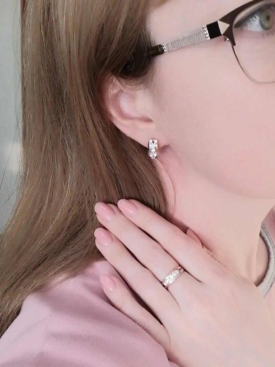 Серьги+кольцо