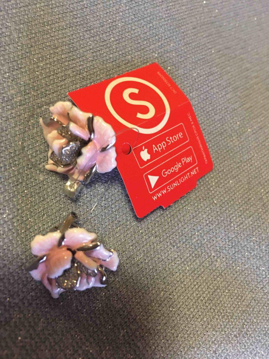 Серьги розовая эмаль и фианиты