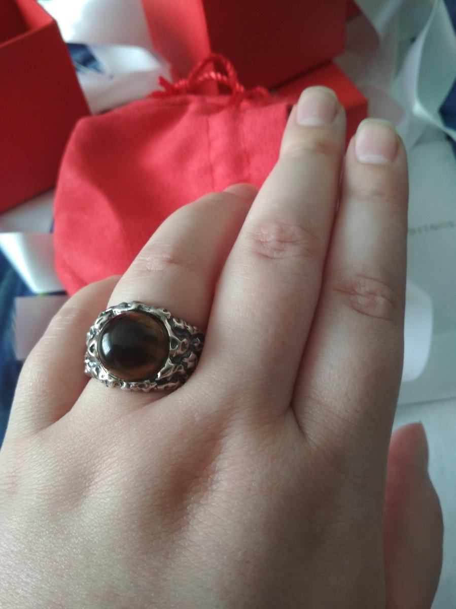 Перстень с тигровым глазом