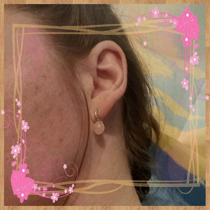 Серьги серебряные с розовым кварцем.🌸🌸🌸