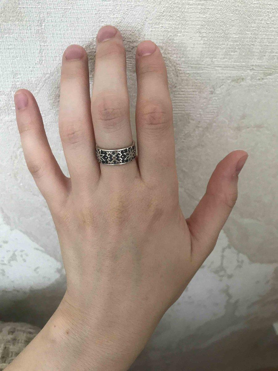 Кольцо серебрянное, этническое