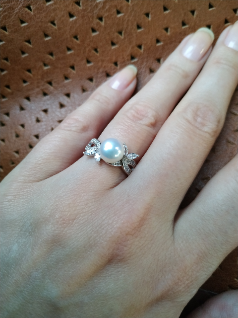 Кольцо с жемчугом от Санлайт