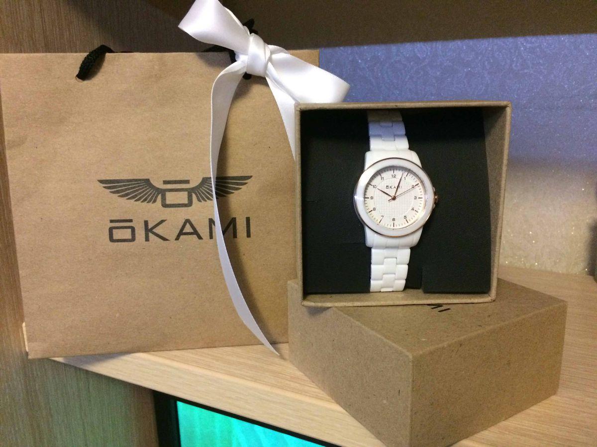 Керамические часы OKAMI в белом цвете