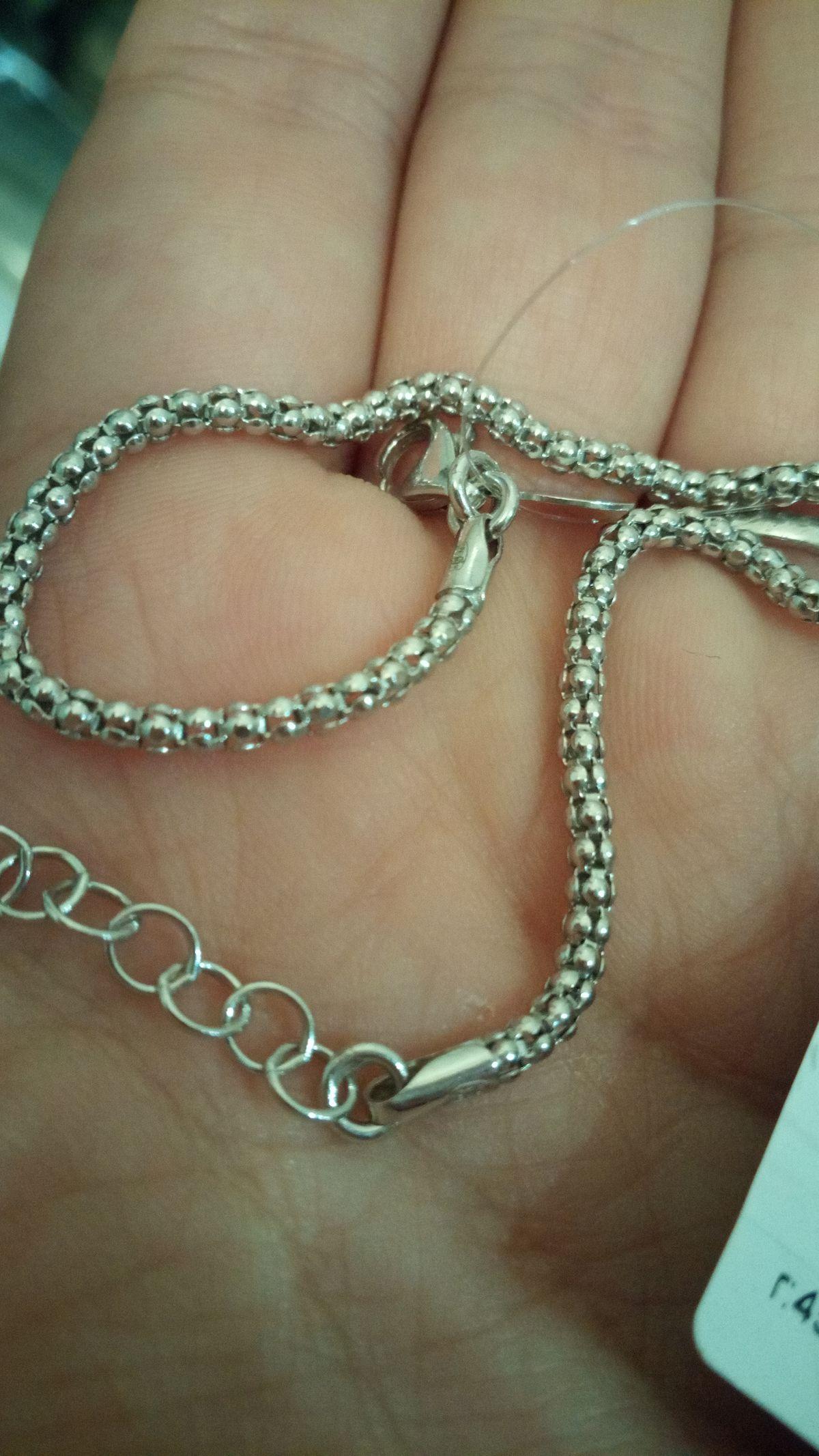 Серебряный женский браслет без камней