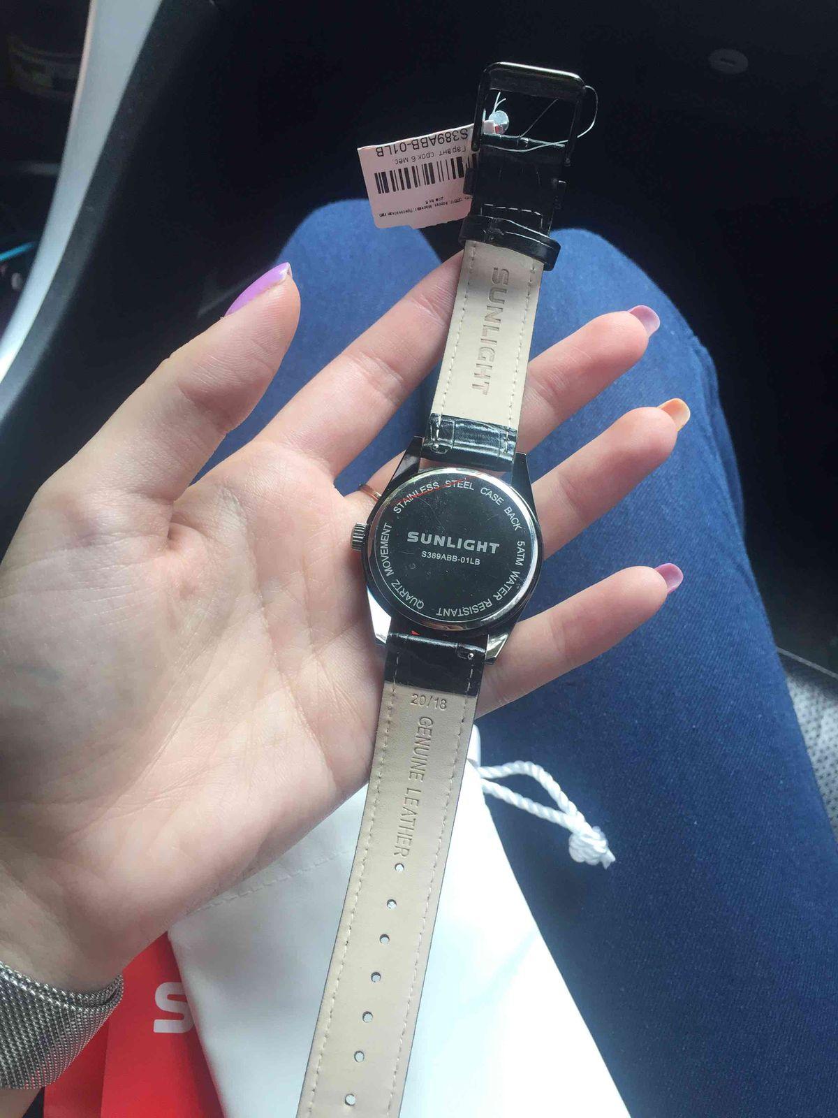 Часы черные женские