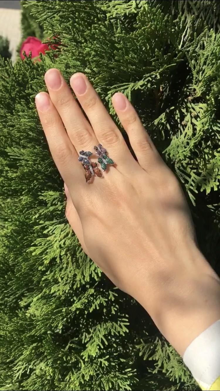 Серебряное кольцо с фианитами🦋