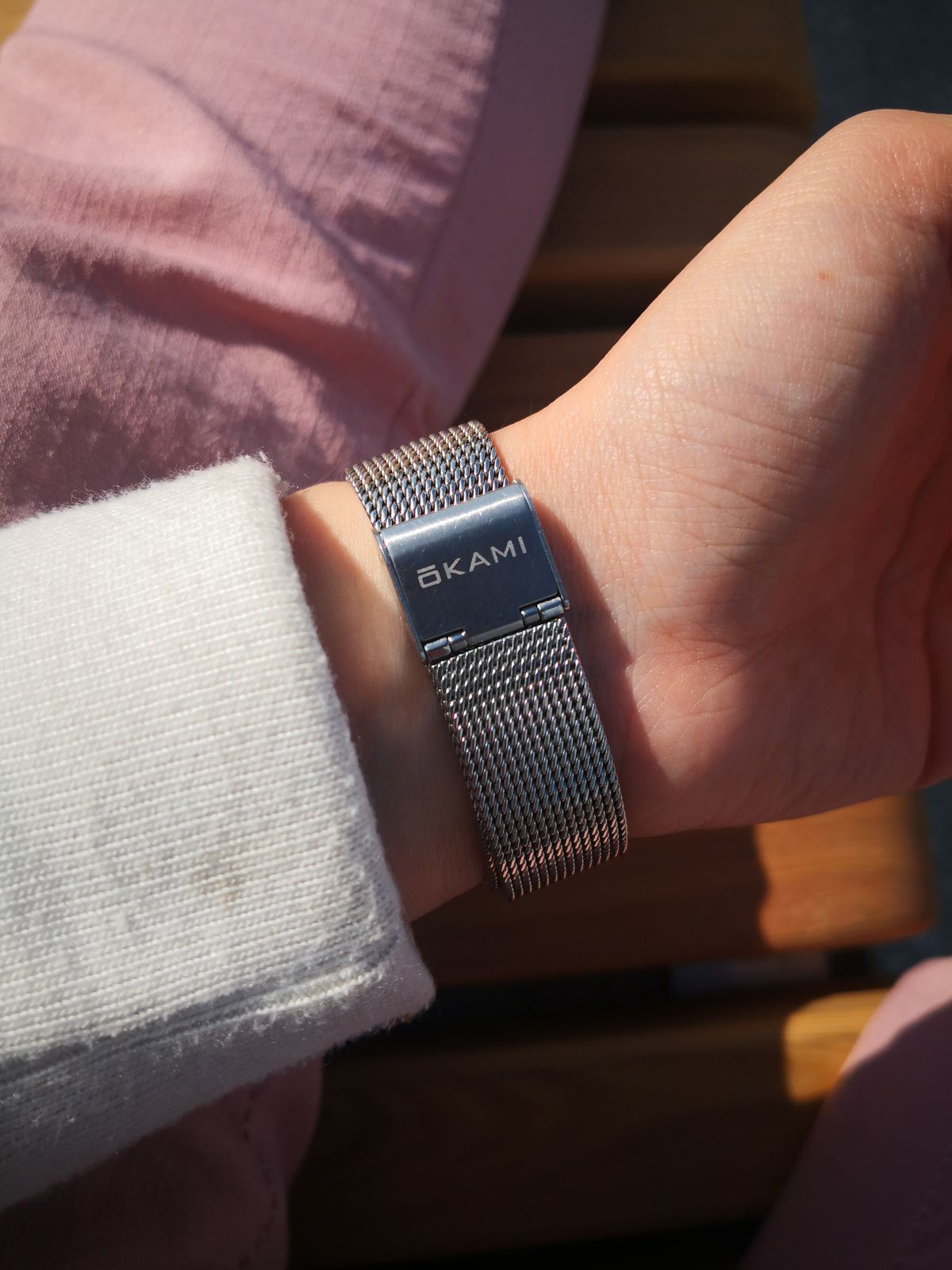 Японские часы на миланком браслете