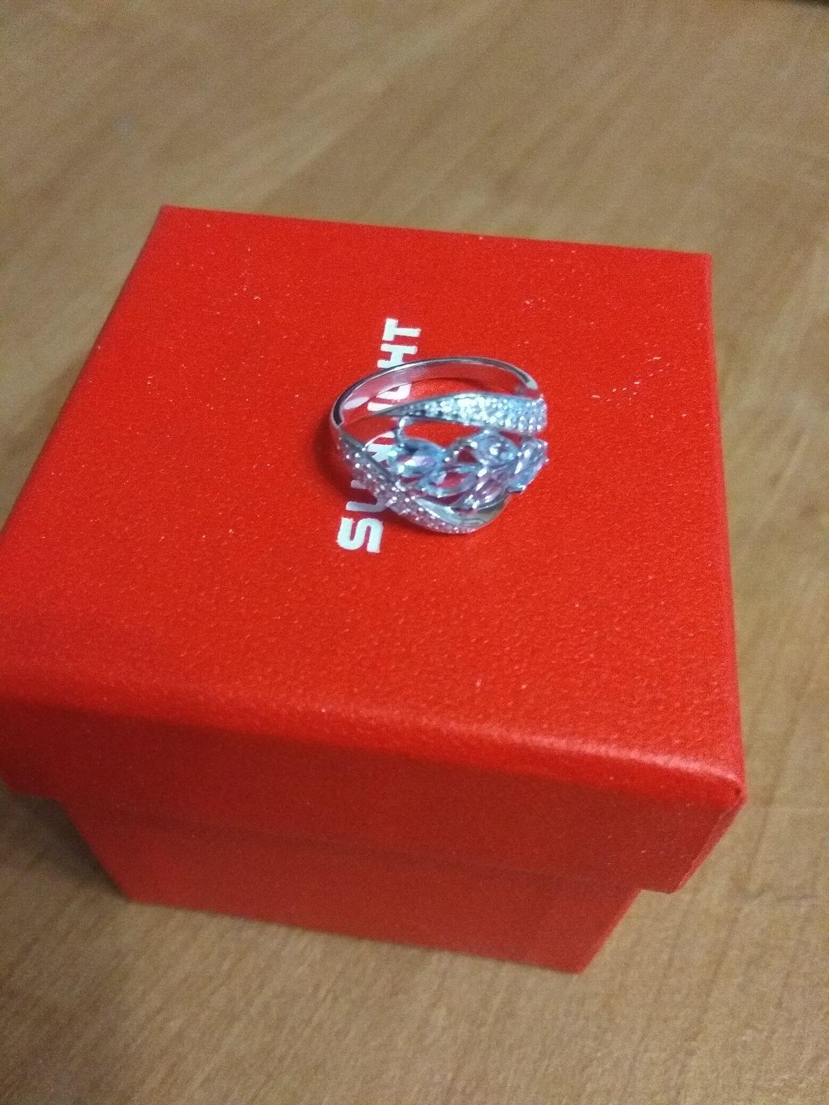 Кольцо с капельками топазов