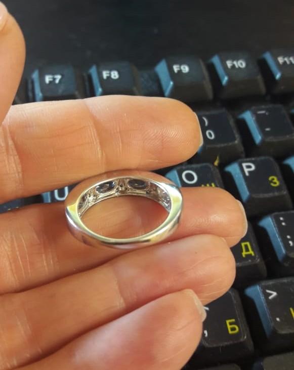Кольцо с топазами