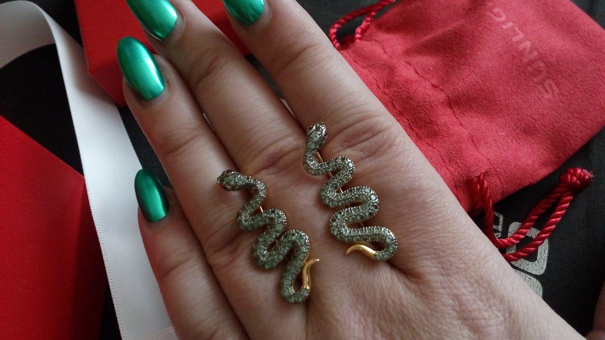 Серьги змейки