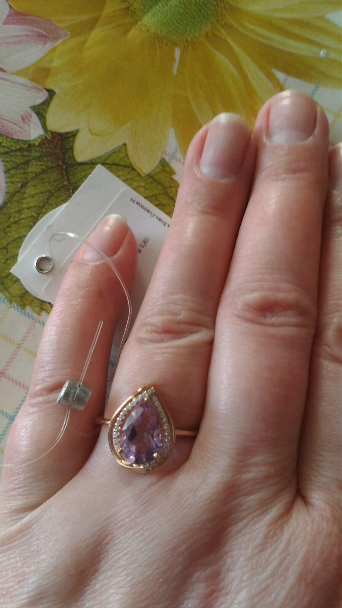Кольцо с аметистом от любимого sokolov